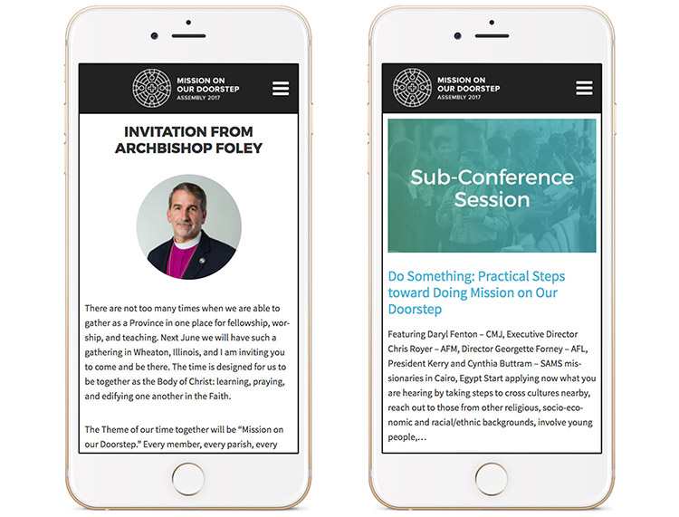 ACNA Assembly17 Website on mobile