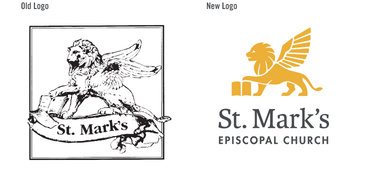 St. Marks Logo Old vs New